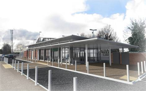The new modular station at Ashtead, Surrey. From Southern's news pages here.