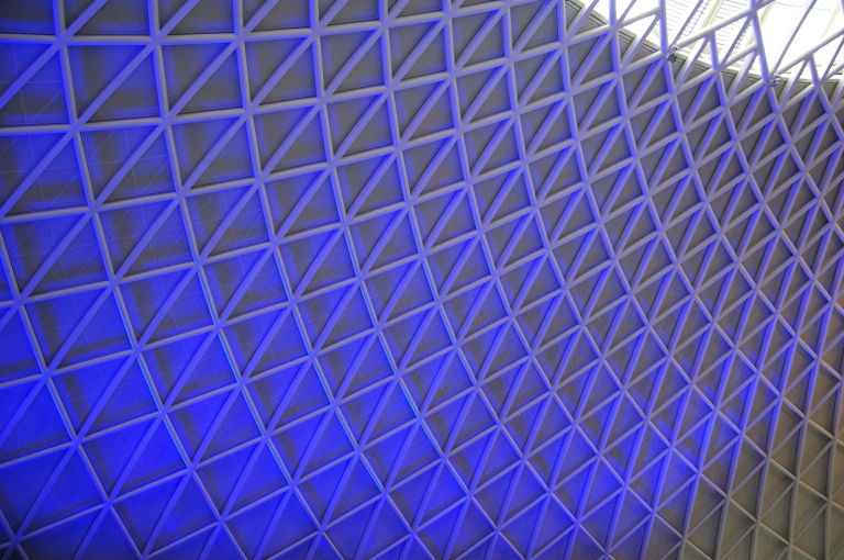 The roof of the western concourse, King's Cross station, London. © Daniel Wright 2013