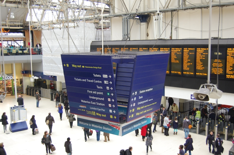 Lloyd Northover signage at Waterloo. © Daniel Wright, 2013