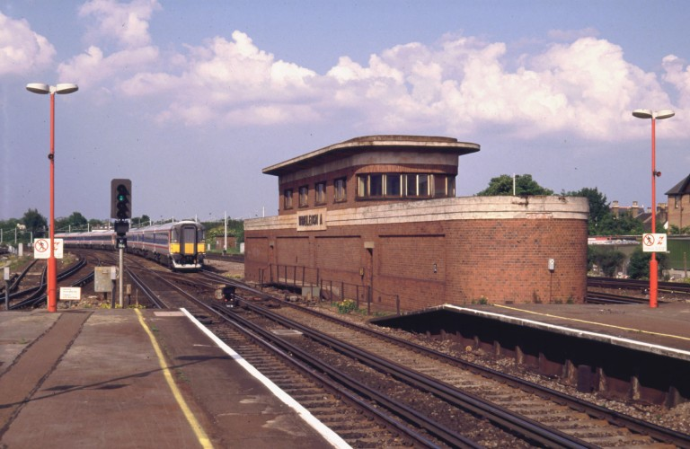 "Wimbledon ""A"" signal box, 24 May 1992 (yes, that's how long this blog has been in preparation). © Daniel Wright 1992"