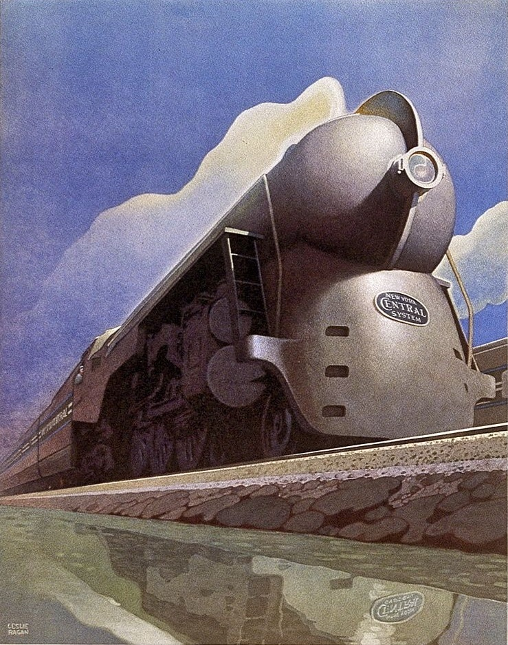 By Leslie Ragan / New York Central System (?) [Public domain or Public domain], via Wikimedia Commons