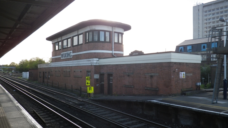 Woking signal box, 4 May 2013. By Daniel Wright