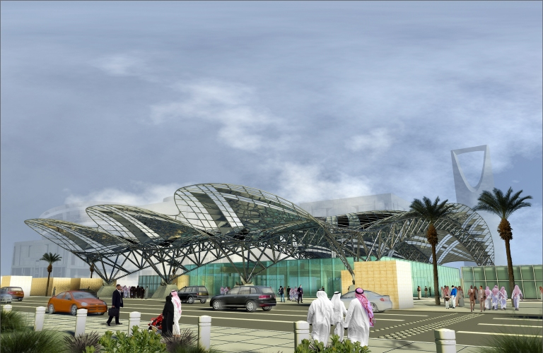Design for transfer station, Riyadh Metro. Courtesy of Bechtel