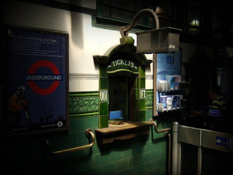 Ticket window at Holloway Road Underground station, London, UK. By James Cridland [CC BY 2.0] via this flickr page