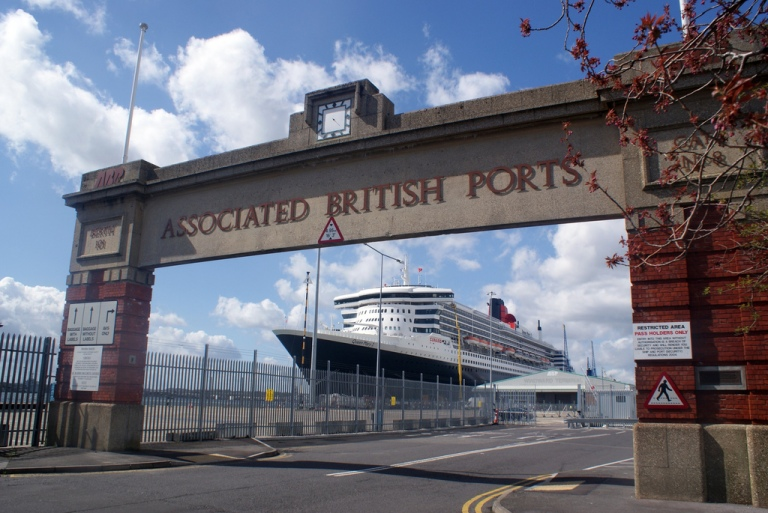 Gate 8 in 20XX, with Cunard's Queen Mary 2 in the background. By Will-Joel-Taylor [CC BY] via this flickr page.