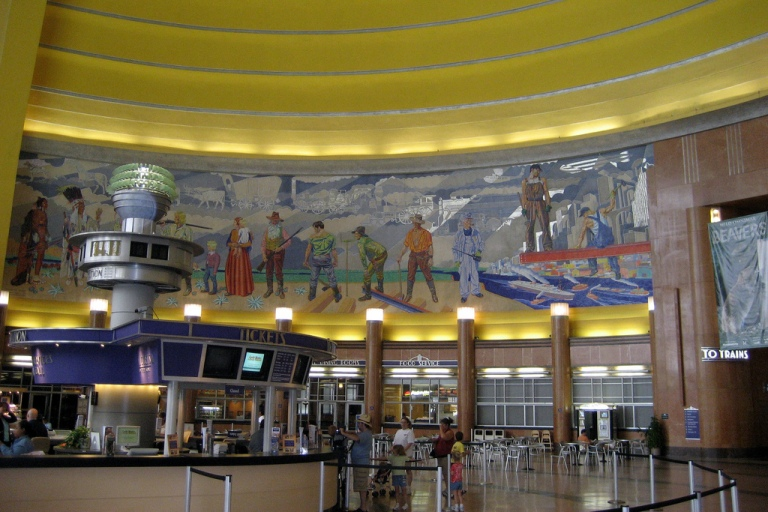 One of the murals within the rotunda. By Wally Gobetz [CC BY 2.0] via this flickr page