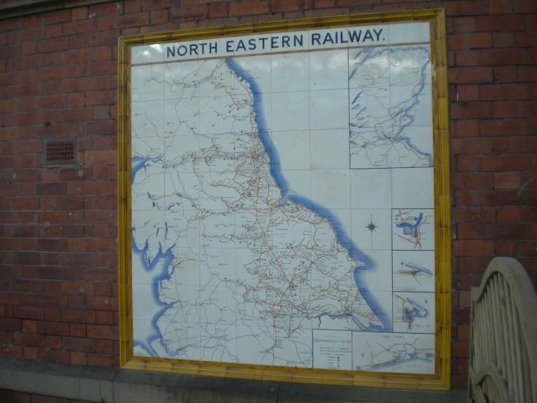 North Eastern Railway map at Tynemouth Tyne and Wear Metro station. © Paul Wright 2013 (used with permission)