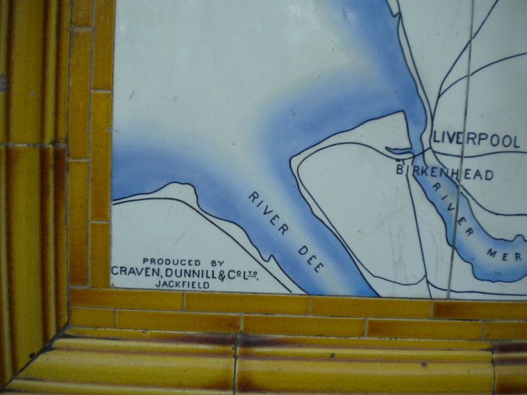 Detail of North Eastern Railway Map. © Paul Wright 2013 (used with permission)