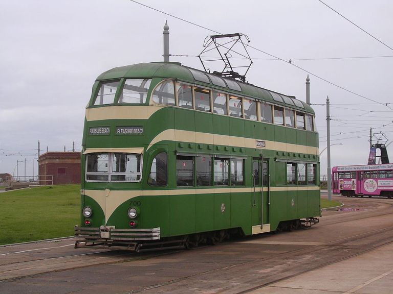 By Terry Whalebone from Bolton, UK (Blackpool tram 700Uploaded by oxyman) [CC-BY-2.0], via Wikimedia Commons