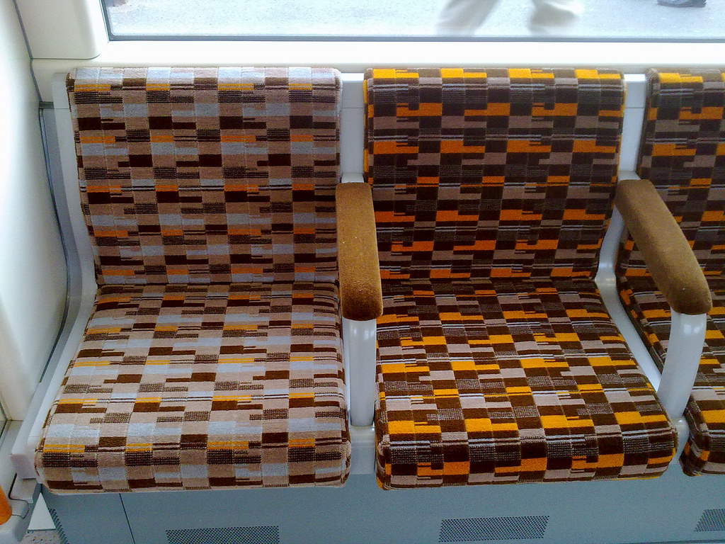 Material of memory transport moquettes of britain the for London underground moquette