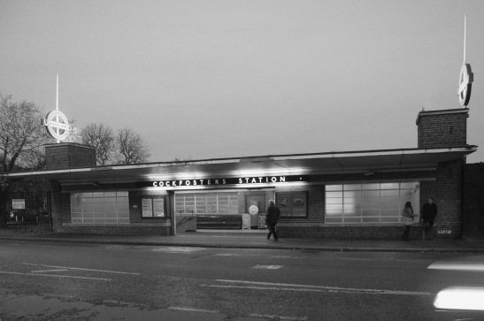 Cockfosters: the eastern of the two street-level entrances. By Daniel Wright [CC BY-NC-ND 2.0]