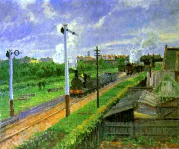 The Train, Beford Park. By Camille Pissarro (1879).