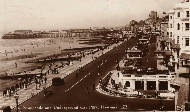 Hastings' new promenade and underground car park. By drew_anywhere [CC BY 2/0] via this flickr page