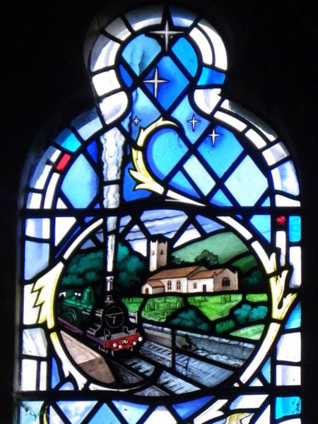 Stained glass window in Kildale Church, Yorkshire, UK. By Trish Steel [CC BY-SA 2.0] via this geograph.org.uk page