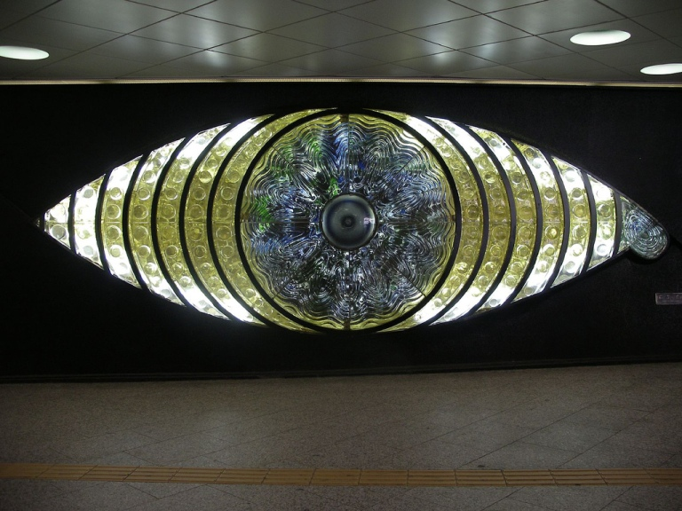 The glass eye at Shinjuku station, Japan. By xx [CC 2.0] via this flickr page