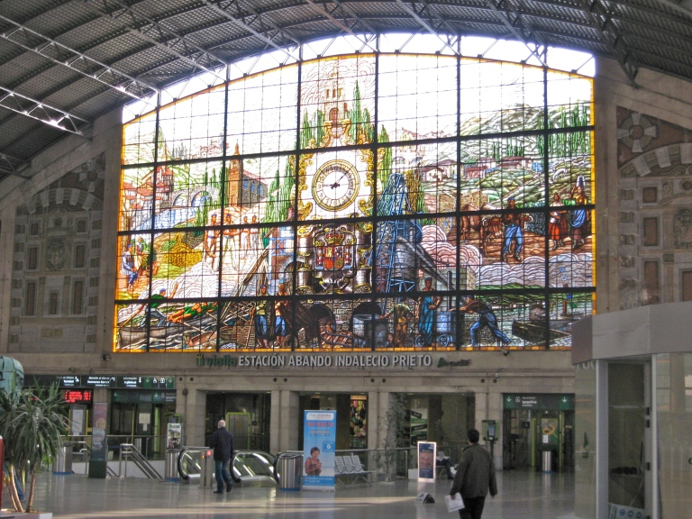 The window at Abando Station, Bilbao, Spain. ©David Humphrey