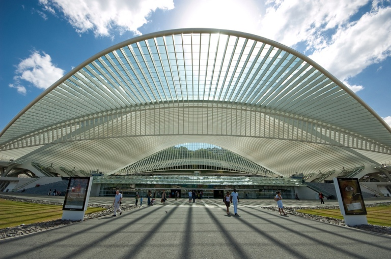 Liege Guillemins, the east side of the station. By Jan Slangen [CC BY 2.0] via this flickr page