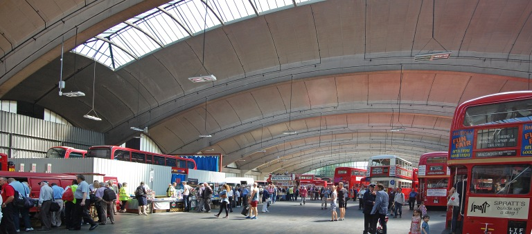 Stockwell Bus Garage, June 2014. By Daniel Wright [CC BY-NC-ND 2.0] via this flickr set