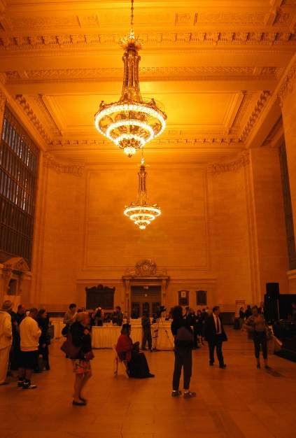 The waiting room at Grand Central Terminal. It is now used to host exhibitions and events (the event in this photo was for 'staycations' in New York state). Photo by Daniel Wright [CC BY-NC-ND 2.0] via this flickr set