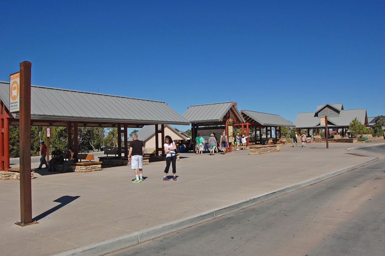 Grand Canyon Visitor Center shelters.