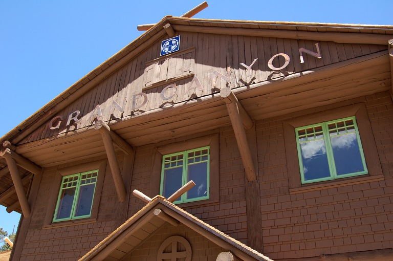 Grand Canyon train depot. Photo by Daniel Wright [CC BY-NC-ND 2.0] via this flickr set