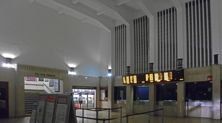 Inside the northern ticket hall at Surbiton station (July 2014). Photo by Daniel Wright [CC BY_NC_ND 2.0] via this flickr set