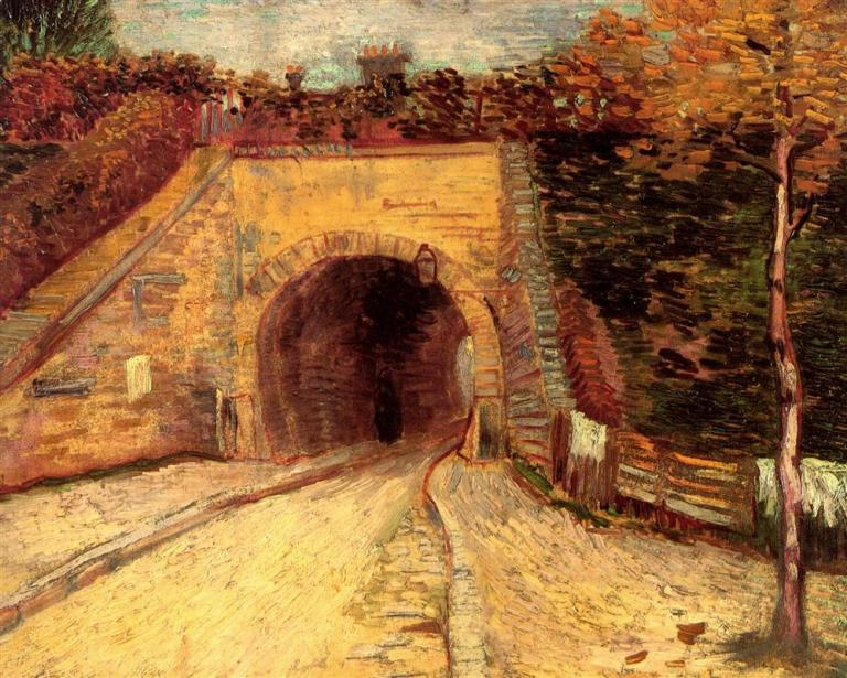 Roadway with Underpass (Le Viaduc). Vincent van Gogh, 1887. Public Domain. Via WikiArt