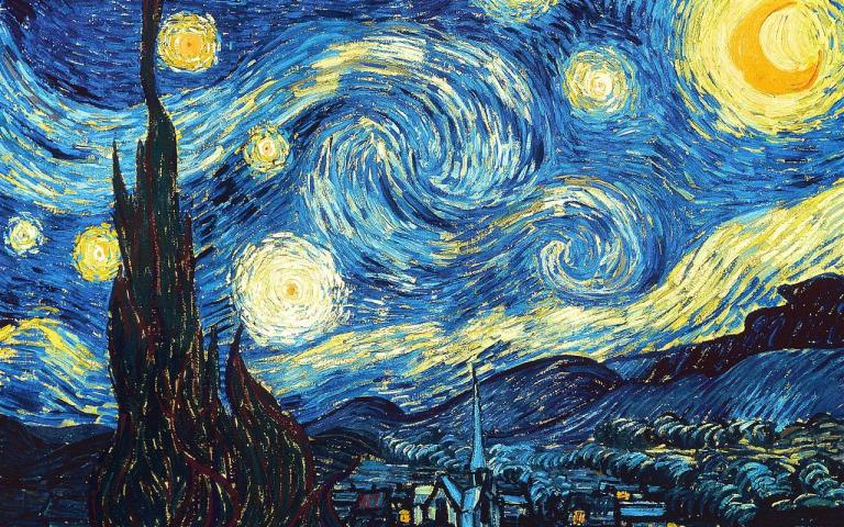 The Starry Night, Vincent van Gogh (1889). Public Domain. Via WikiArt