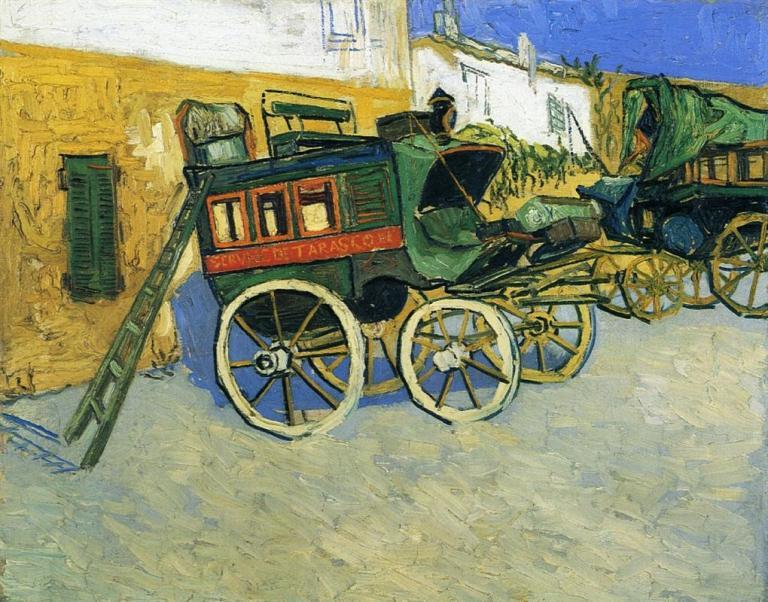 The Tarascon Diligence. Vincent van Gogh, 1888. Public Domain. Via WikiArt