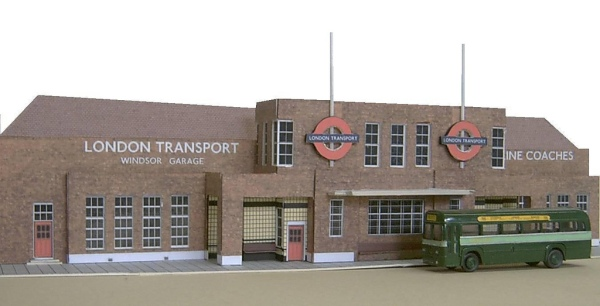 Windsor bus garage, a model by Kingsway Models. Photo © John Howe via this flickr album