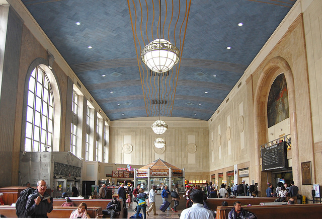 The waiting room at Penn Station. Photo by Daniel Wright [CC BY-NC-ND 2.0] via this flickr set