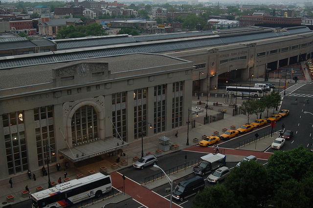 Penn Station in the evening. Photo by David Warlick [CC BY-NC-SA 2.0] via this flickr page