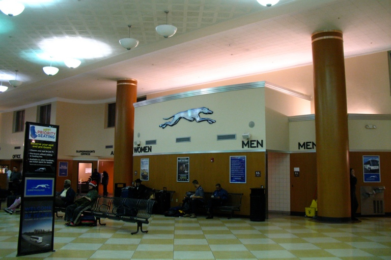 Inside Cleveland Greyhound Terminal. Photo by Alex Leung [CC BY 2.0] via this flickr page