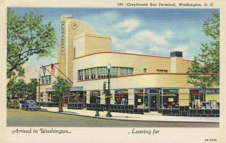 Greyhound Terminal, Washington D.C., image by streetsofwashington [CC BY 2.0] via this flickr page