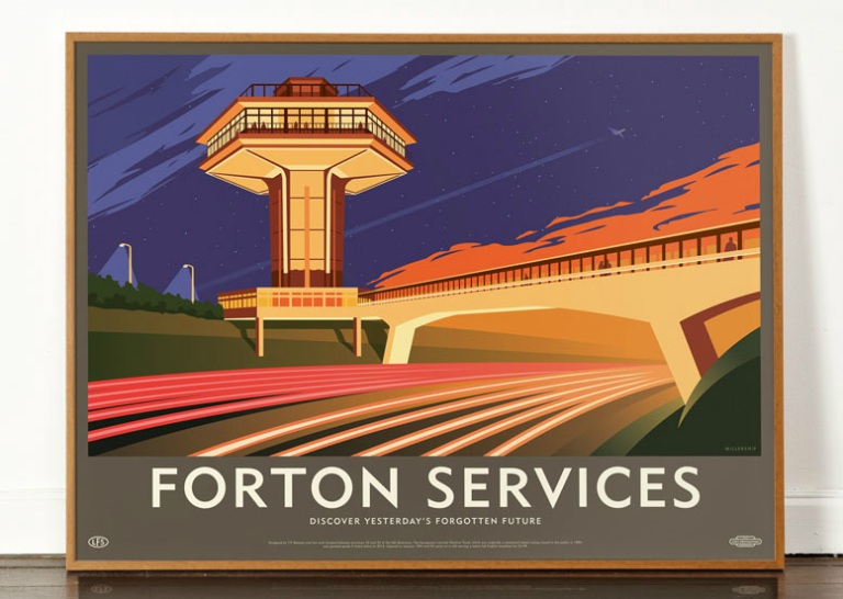 Litho print of Forton Services by art and design studio wearedorothy, in its