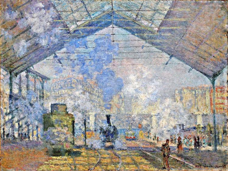 Saint-Lazare Station, Claude Monet (1877). In the public domain, via WikiArt