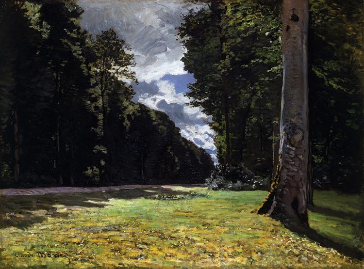 The Pave de Chailly in the Fontainbleau Forest, Claude Monet (1865). In the public domain, via this WikiArt page