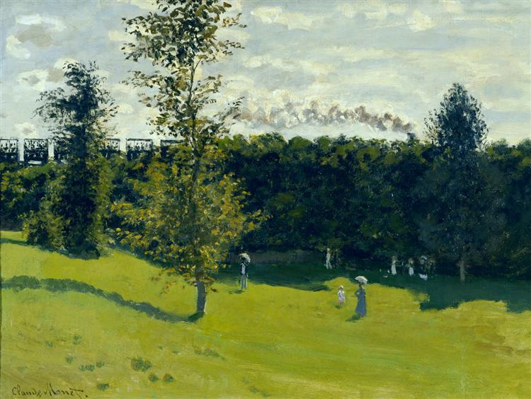 The Train in the Country, Claude Monet (1871). In the public domain, via this WikiArt page