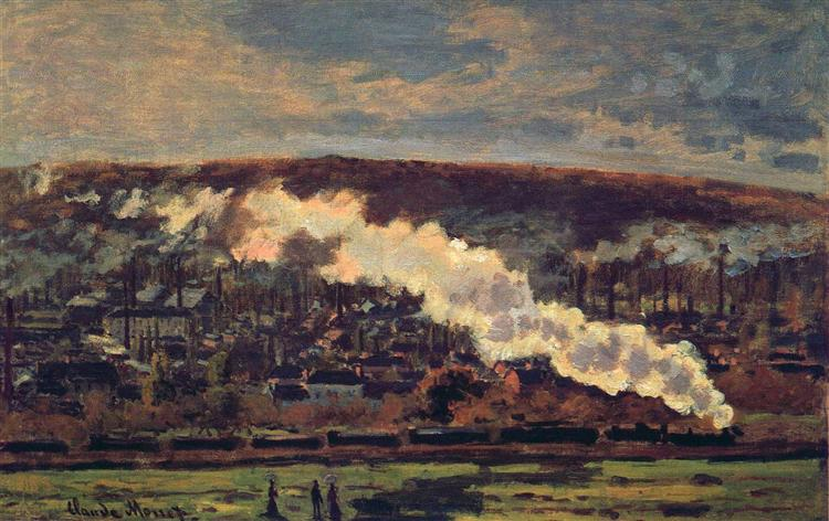 The Train, Claude Monet (1872). In the public domain, via this WikiArt page