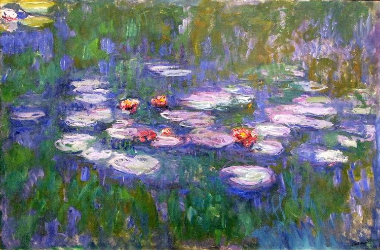 Water Lilies. Claude Monet (1919). In the public domain, via this WikiArt page