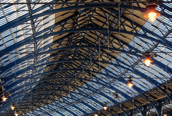 The roof of Brighton station, fabulously restored by Railtrack in 2001. Photo by Zemlinki! [CC BY 2.0] via this flickr page