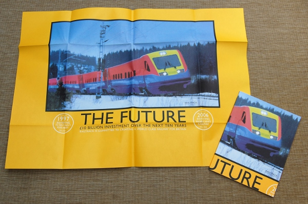Railtrack's Annual Report for 1996/97, with its wrap-around cover folded out