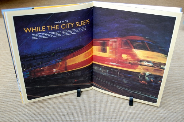 """While the City Sleeps"" by artist Fletcher Sibthorp illustrated use of Railtrack's infrastructure by Royal Mail for the transport of letters and parcels (don't even get me started on the subsequent rapid decline of the mail trains)"