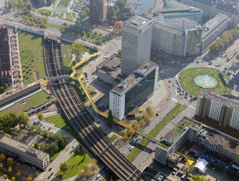 Aerial view of the Luchtsingel, Rotterdam. © Ossip van Duivenbode [used with permission]