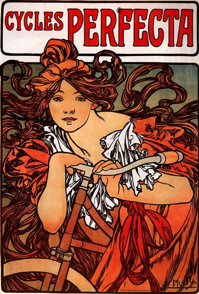 Cycles Perfecta by Alphonse Mucha (1902) [public domain] via WikiArt, here