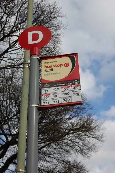 Brighton & Hove bus stop flag. Picture by Daniel Wright [CC BY-NC-ND 2.0] via this flickr page