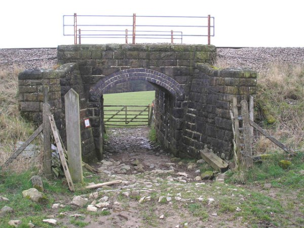 Cattle arch under the railway near Rylstone in the Yorkshire Dales National Park. Photo by John Illingworth [CC BY-SA 2.0], via Wikimedia Commons