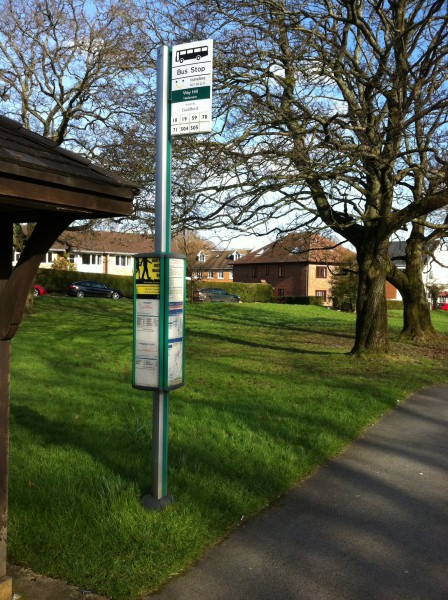 Bus stop at Wey Hill, Surrey. Photo by Daniel Wright [CC BY-NC-ND 2.0]