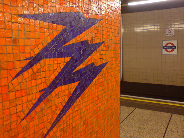 Mosaic Speedbirds at Hatton Cross London Underground station. Photo by Martin Deutsch [CC BY 2.0] via this flickr page