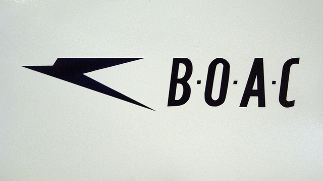 Speedbird and the first BOAC wordmark. Image by FraserElliot [CC BY 2.0] via this flickr page